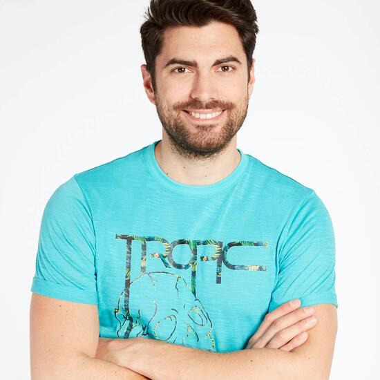 Camiseta Manga Corta Silver Tropic Turquesa Hombre