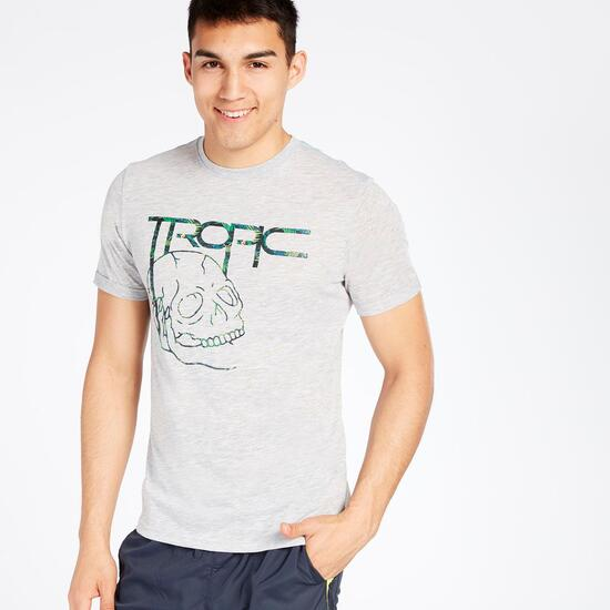 Camiseta Manga Corta Gris Hombre Silver