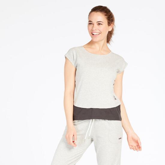 Camiseta Gris SILVER BASIC Mujer