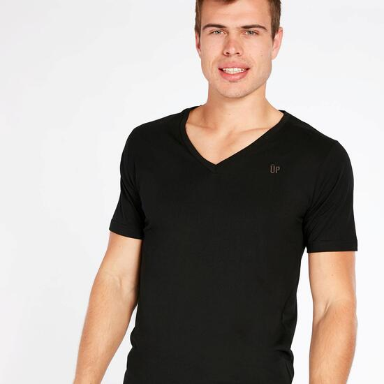 Camiseta Pico UP BASIC Negro Hombre