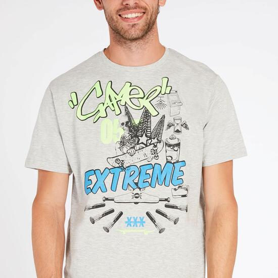 Camiseta UP STAMP Gris Hombre