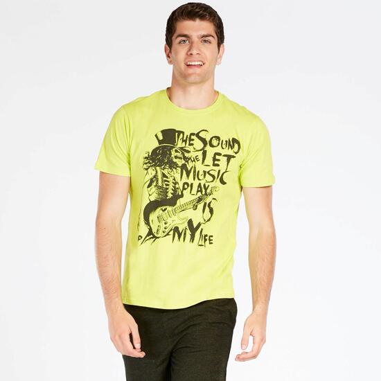 Camiseta Verde Up Stamps Hombre