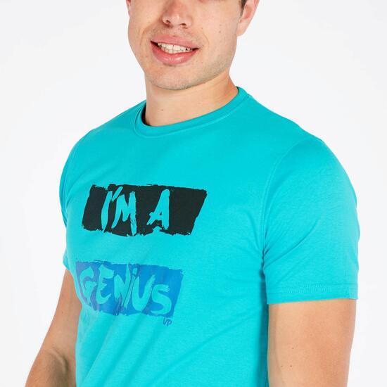 Camiseta Azul Up Stamps Hombre