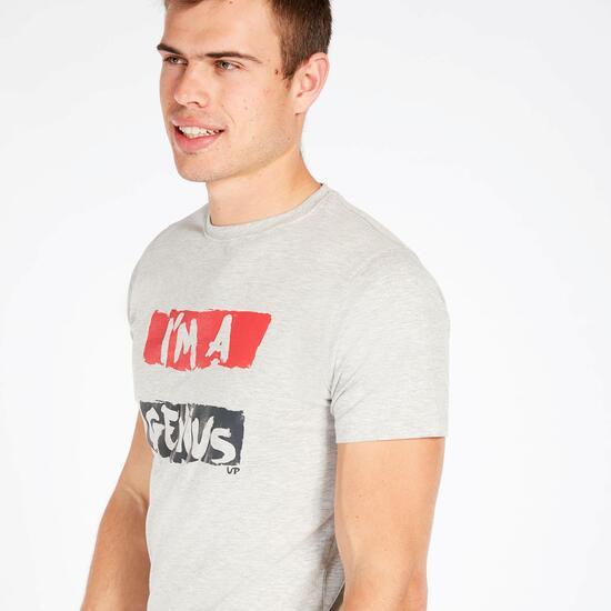 Camiseta Manga Corta UP STAMPS Gris Hombre