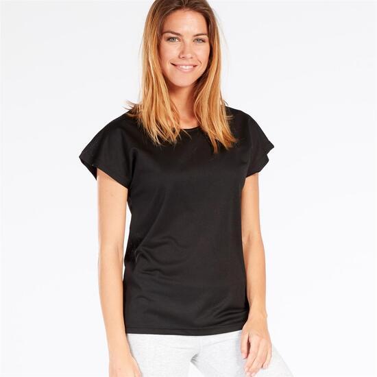 Camiseta Rejilla UP BASIC Negra Mujer