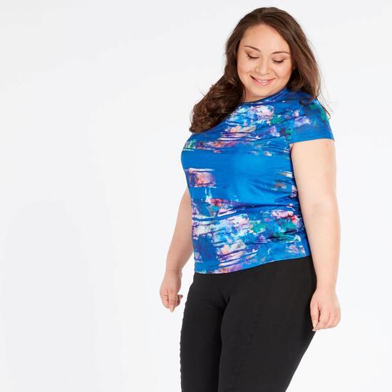 Camiseta Life Lady SILVER Multicolor Azul Mujer