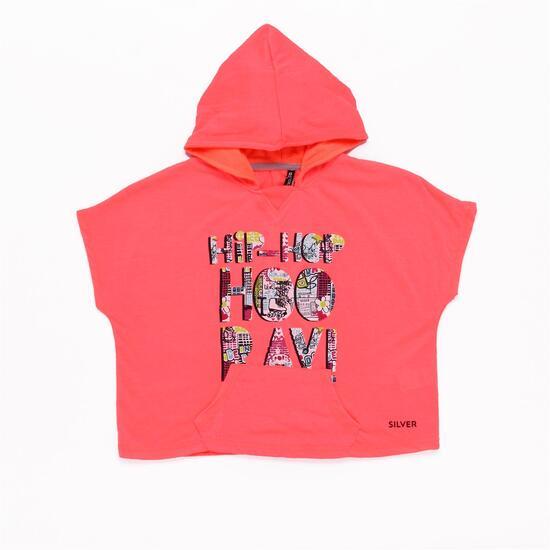 Camiseta Capucha SILVER HIP HOP Coral Niña (2-8)