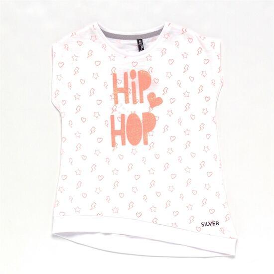 Camiseta SILVER HIP HOP Blanca Niña (2-8)