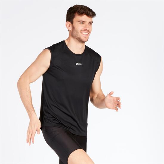 Camiseta Running Sin Mangas IPSO Negro Hombre