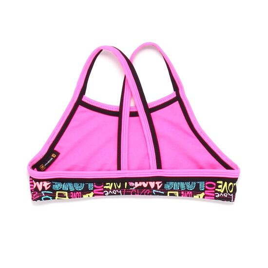 Top Bikini Halter UP STAMPS Letras Niña (10-16)