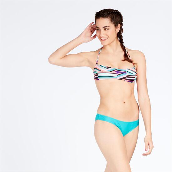 Top Bikini Bandeau Estampado Geomético UP STAMPS