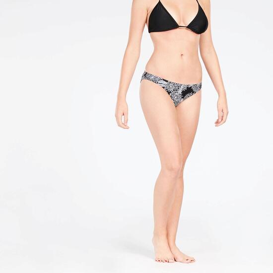 Braga Bikini Floral Negro Mujer Up