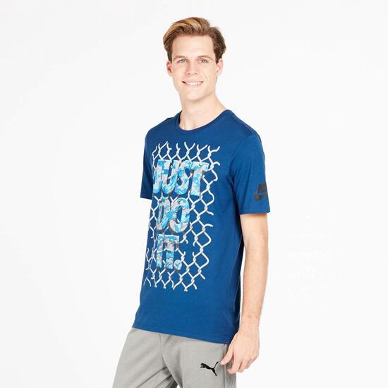 NIKE JDI Camiseta Manga Corta Azul Hombre