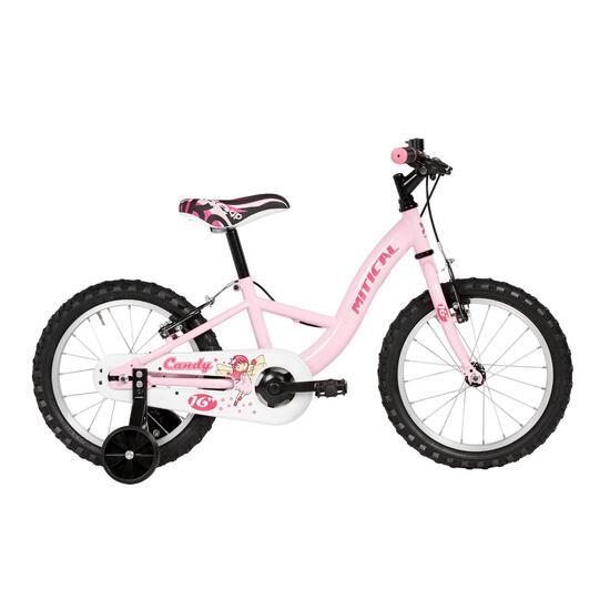 """Bicicleta MITICAL 16"""" Blanco Fucsia Niña"""