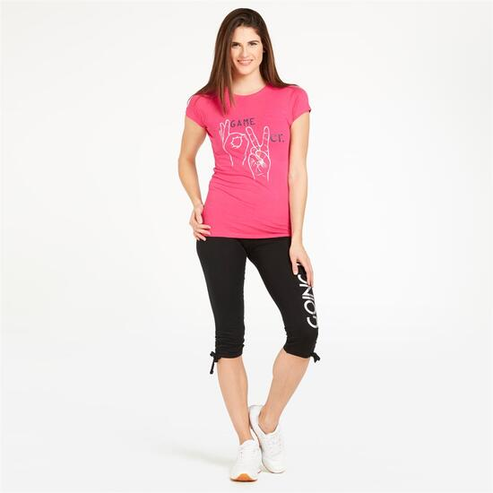 Camiseta UP STAMPS Rosa Mujer