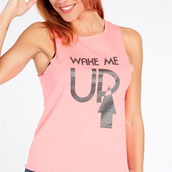 Camiseta Tirantes UP STAMPS Coral Mujer