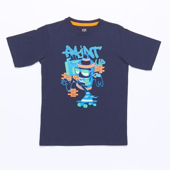 Camiseta UP STAMPS Marino (10-16)