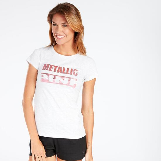 Camiseta Blanca Up Stamps Mujer