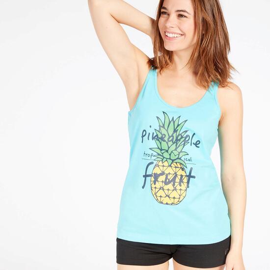Camiseta Tirantes Celeste Mujer Up