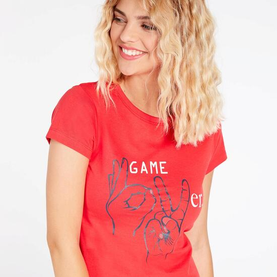 Camiseta Coral Básica Mujer Up Stamps