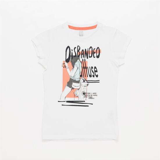 Camiseta UP STAMPS Blanca Niña (10-16)