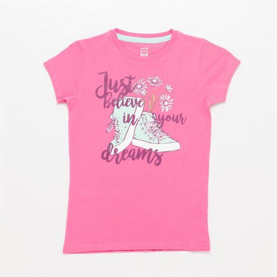 Camiseta UP STAMPS Rosa Niña (10-16)