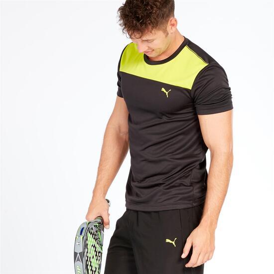 PUMA Camiseta Tenis Pádel Negro Hombre