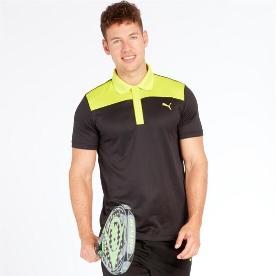 PUMA Polo Pádel Tenis Negro Lima Hombre