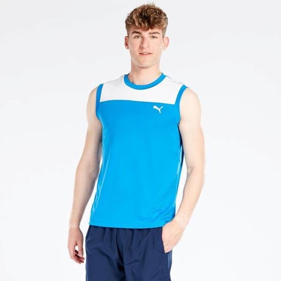 Camiseta Sin Mangas Puma Azul Hombre
