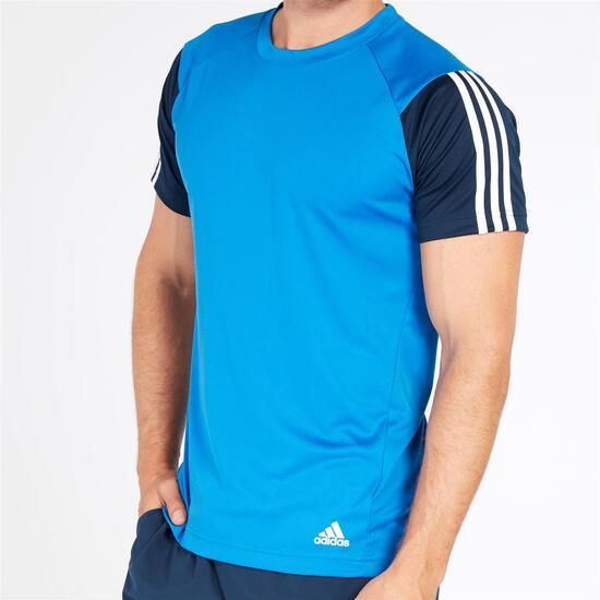 ADIDAS Camiseta Azul Hombre
