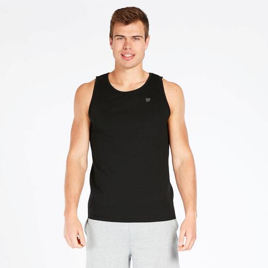 Camiseta Tirante Ancho UP BASIC Negra Hombre