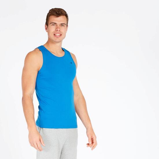 Camiseta Tirantes Up Basic Azul Marino Hombre