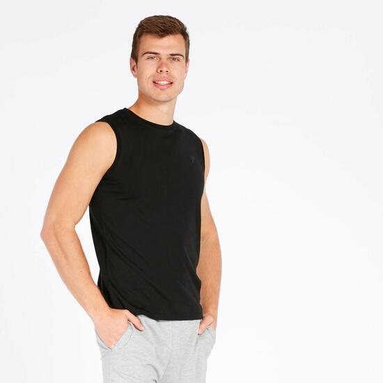 Camiseta sin Mangas Up Basic Negro Hombre