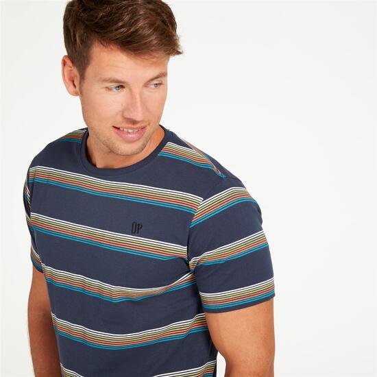 Camiseta Rayas UP Marino Hombre