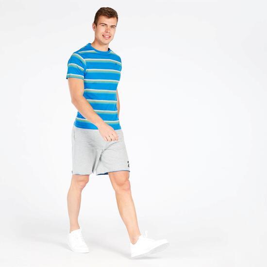 Camiseta Manga Cortas Rayas UP Azul Hombre