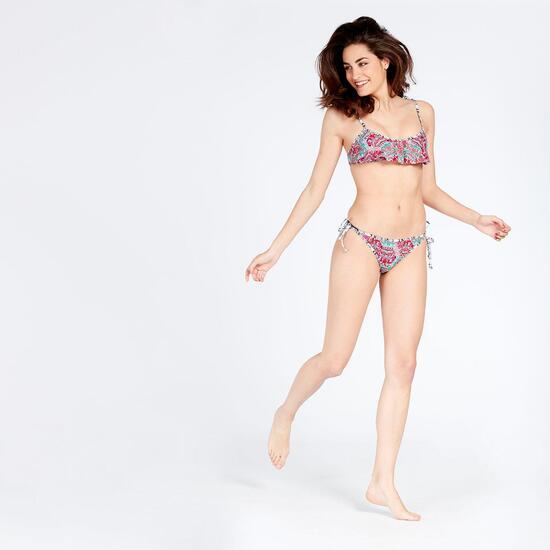 Bikini Bandeau Volante Silver