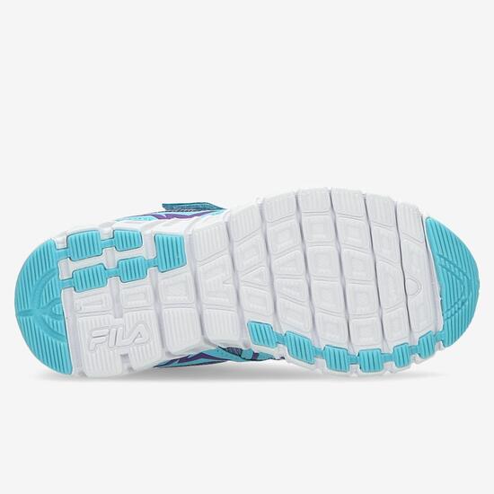 Zapatillas Velcro Fila Niña Azules