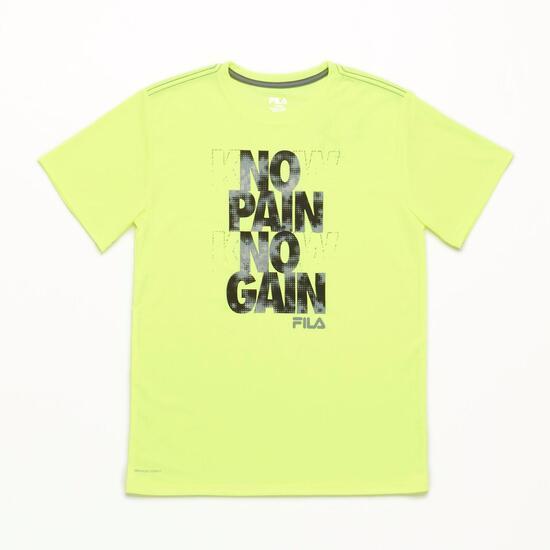 FILA Safety Yellow Camiseta Amarillo Niño (6-16)