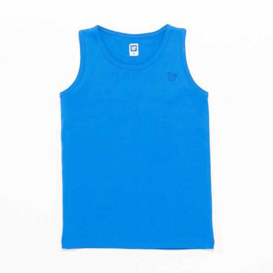 Camiseta Tirante Ancho Up Basic Azul Niño (2-8)