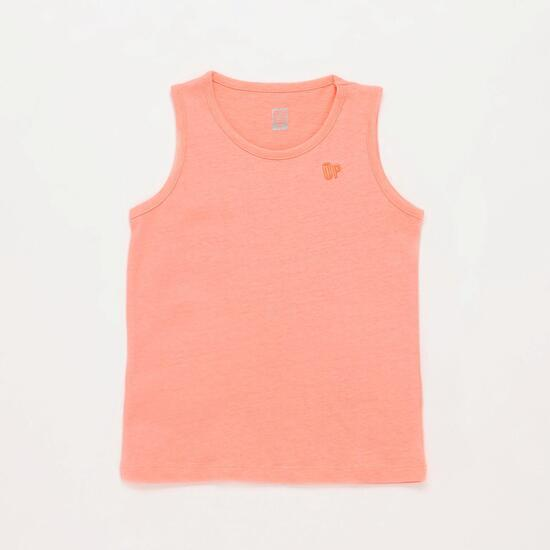 Camiseta Coral Fluor Niña Up