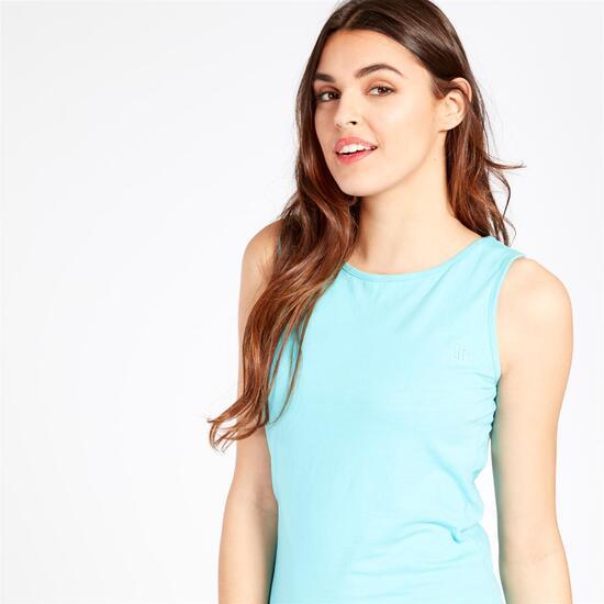 Camiseta Tirantes UP BASIC Celeste Mujer