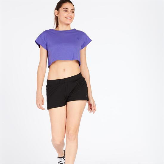Camiseta Crop UP BASIC Morado Mujer