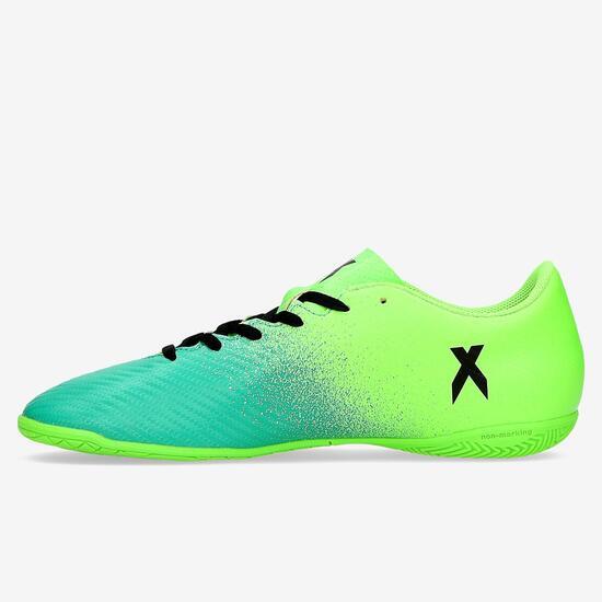 Zapatillas Fútbol Sala Adidas X 16.4 Verde Niño (36-38,5)