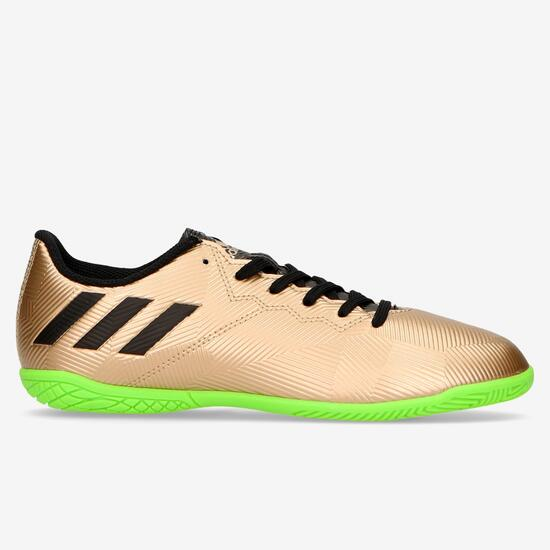 Botas Fútbol Sala adidas Messi 16.4 Beige Niño (28-35) - MARRON ... aa0da70dcd244