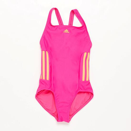 Bañador Natación Niña Adidas Fucsia Naranja