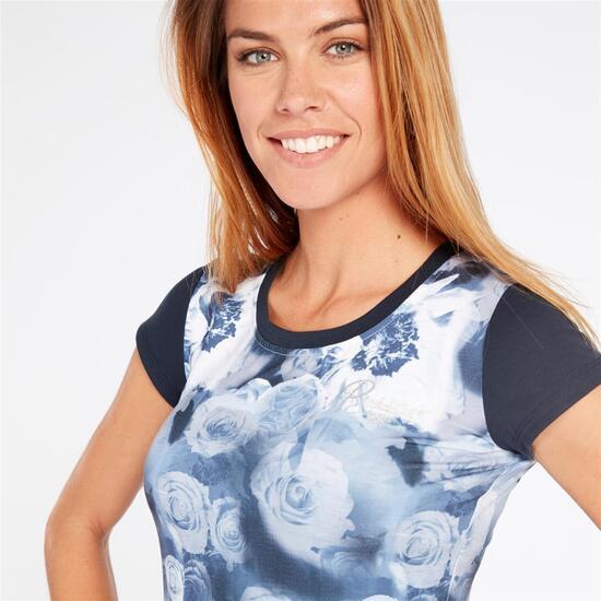 RUSSELL ATHLETIC Camiseta Marino Blanca Mujer