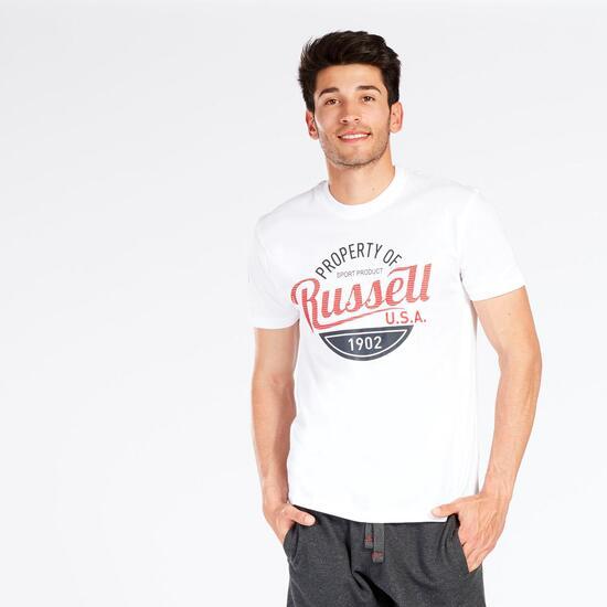 Camiseta Manga Corta RUSSELL ATHLETIC Blanca Hombre