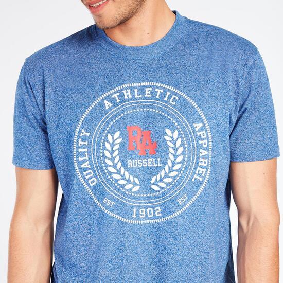 Camiseta Manga Corta RUSSELL ATHLETIC Azul Royal Hombre