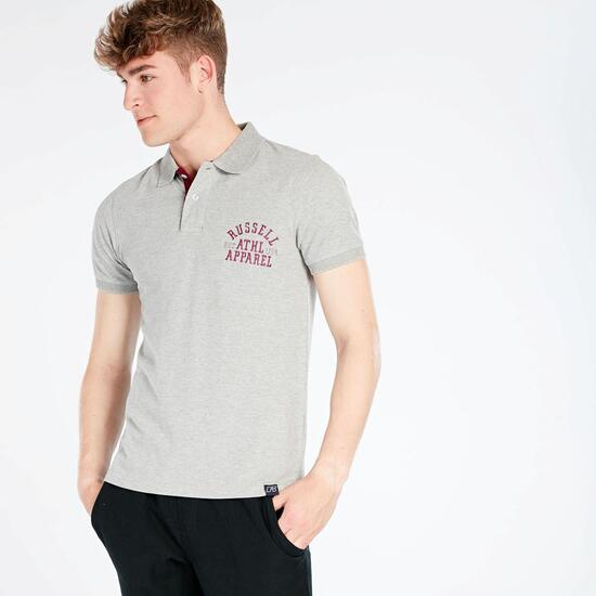 Polo Gris Hombre Russell Athletic