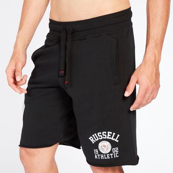 RUSSELL ATHLETIC Pantalón Corto Negro Hombre